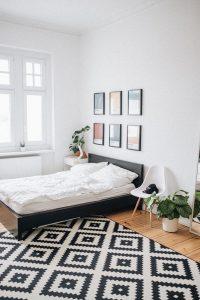 Art pieces in the bedroom